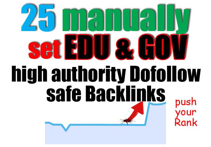 Build 25 high da pa edu and gov backlinks