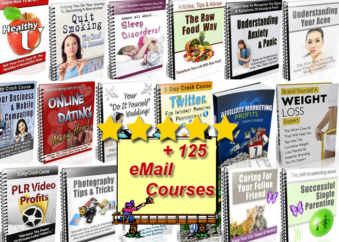Provide you Over 125 eMail Courses On Health and Other Niches