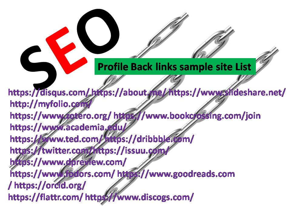 Get 100 Profile Back links PR10-PR3 Authority website