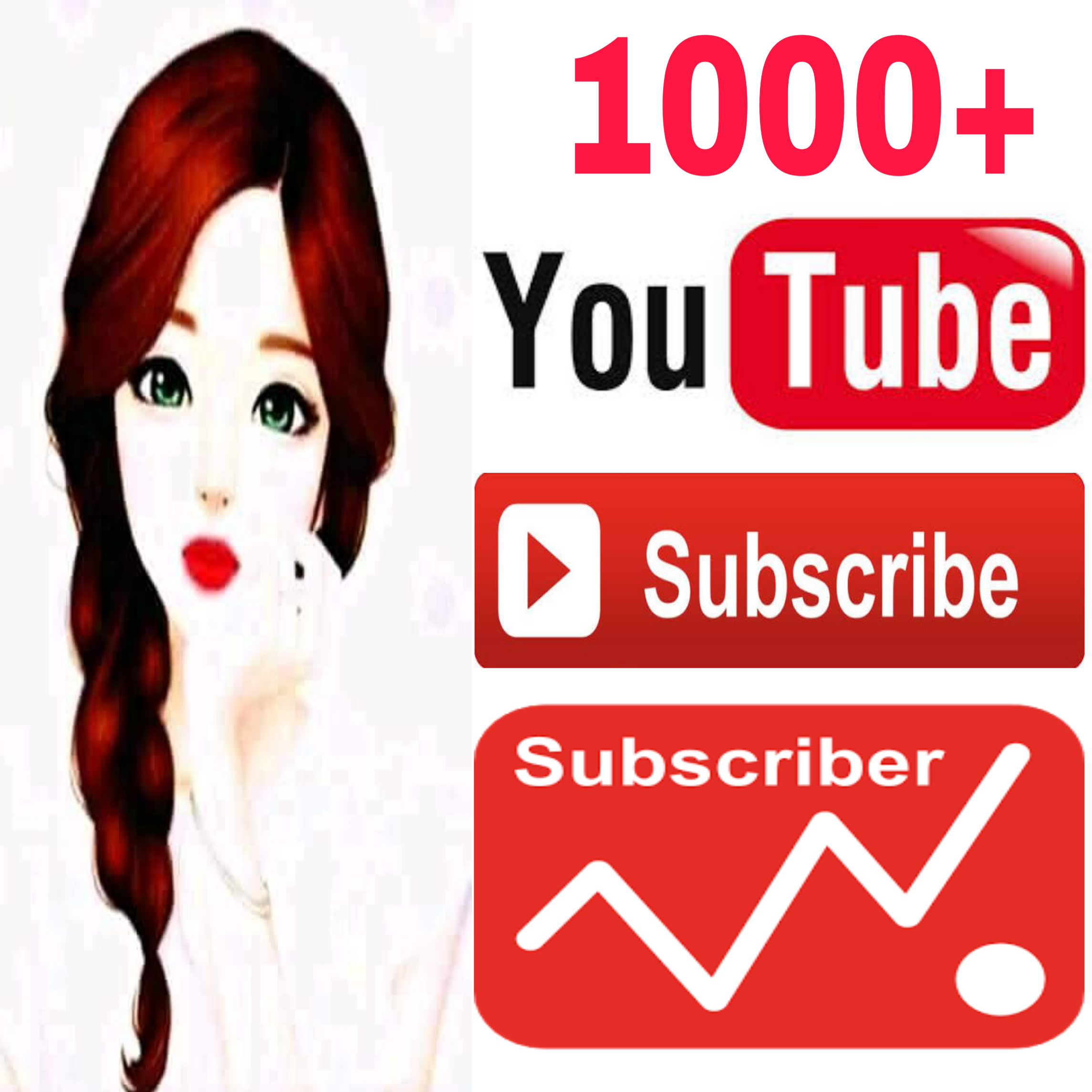 Real always active 1000/1k never drop guaranteed genuine channel Sub-Scriber very fast in 2-72 hours