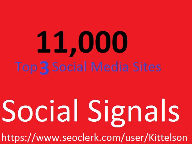 11,000 Social Signals Come From Top 3 Social Media Si...