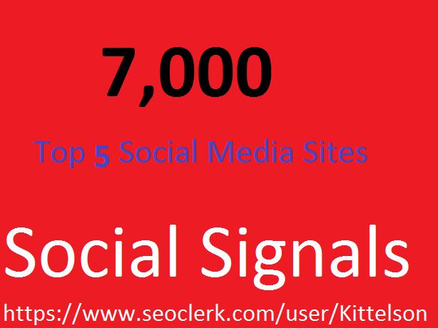 7,000 Social Signals Come From Top 3 Social Media Sit...