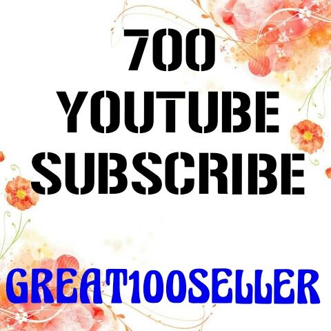 700  Y0U TUBE Subscribers nondrop lifetime guarantee