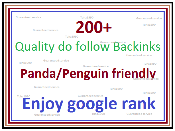 enjoy google rank by 200+ Quality do follow Backlinks -create Web 2.0 Profile, PR9 to PR5