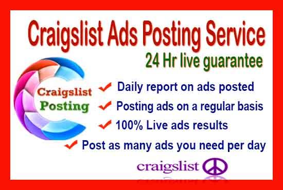 Craigslist ad posting in USA Sites 10