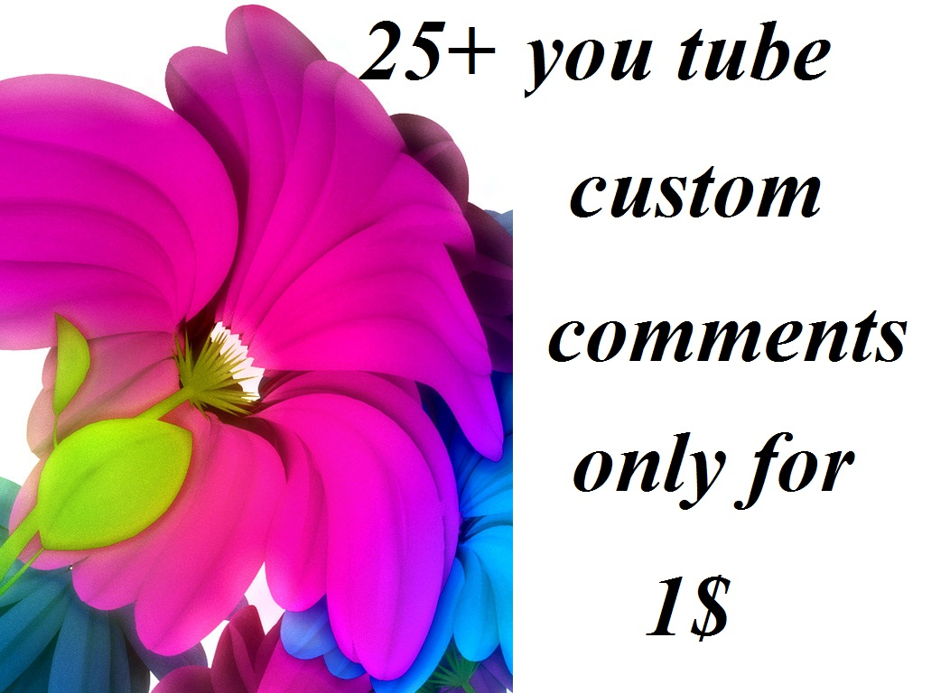 cheap rate.25+ custom comments( instant start)