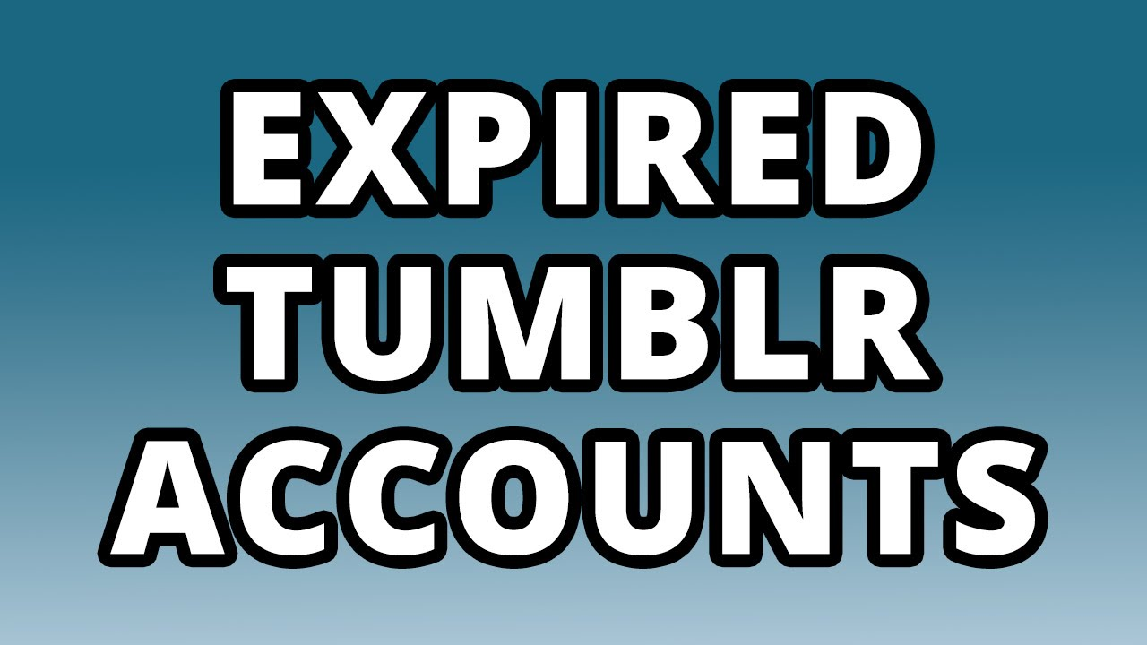 400 Expired Tumblr Profiles PA 27+ unregistered