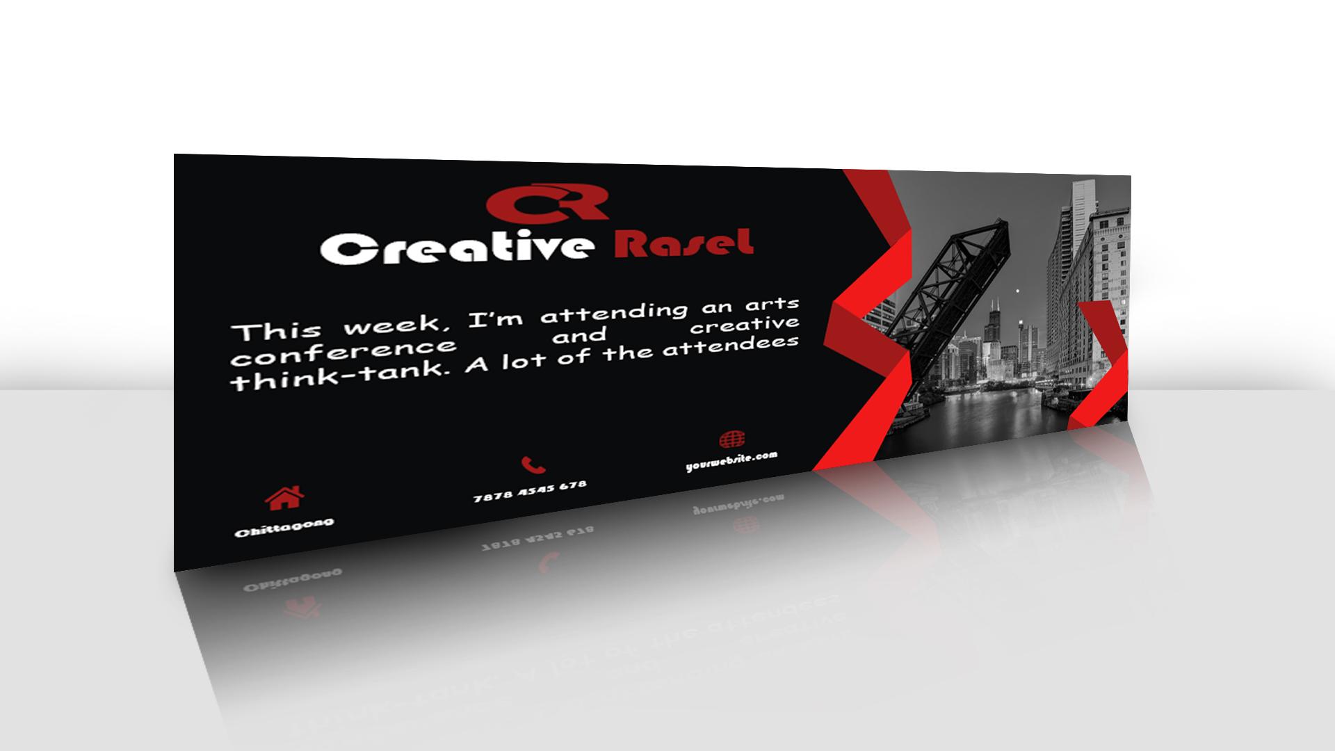Design A Professional Facebook Cover,Banner Header, Ads