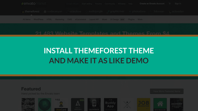 install premium wordpress theme as demo