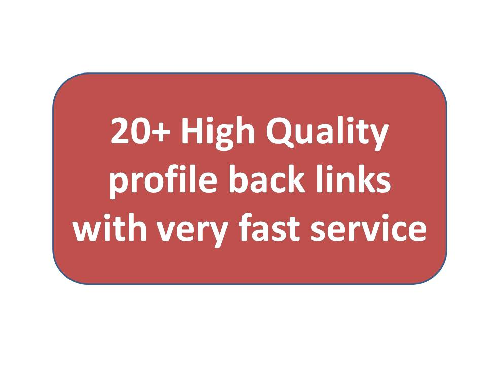 20+ High Quality profile backlinks with very fast ser...