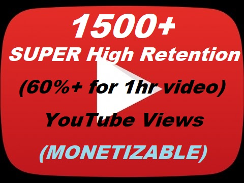 1000+ YouTube Veiws SUPER High Retention 60-90% Retention for 1hr Video (Working after the big Youtube Update)
