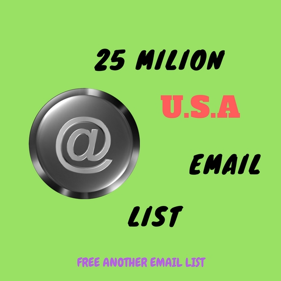 2.5 milion Ameria States Leads together Email List