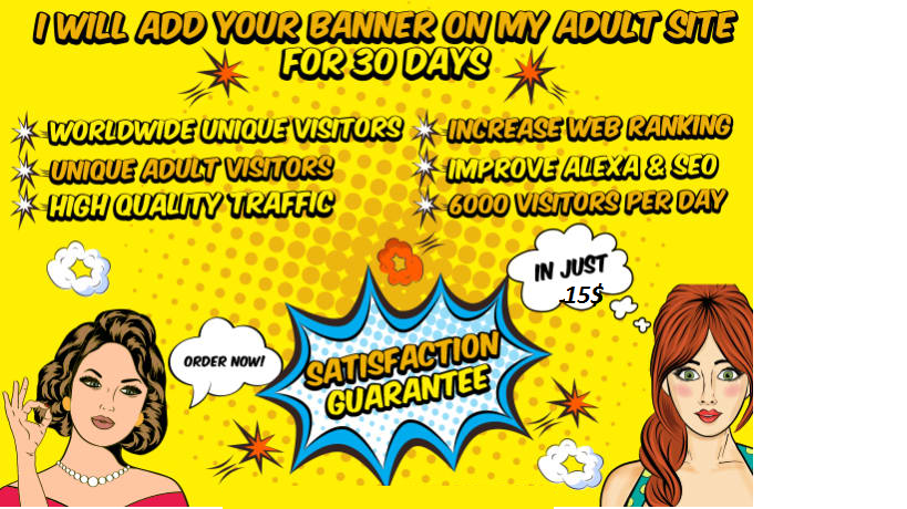 Advertise Your Banner On My A DULTSite For 30 Days