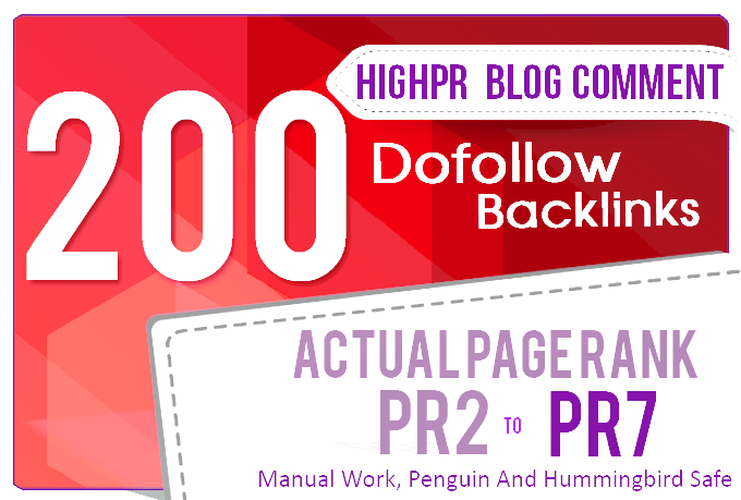 Provide 200 Blog Comment High Quality with DO-follow Backlinks