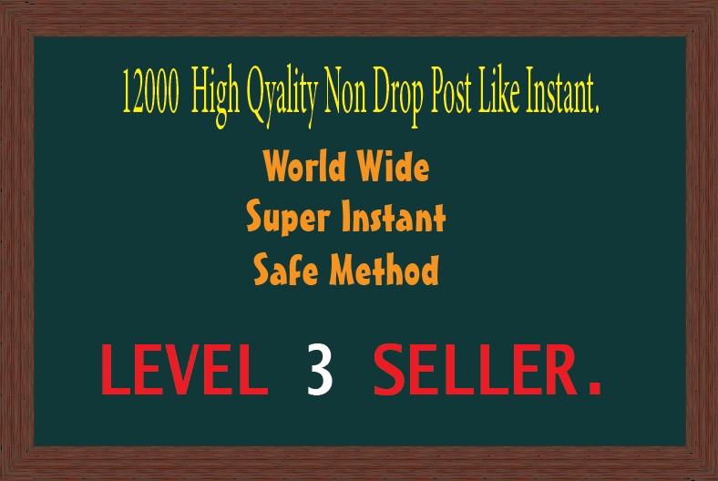 12000 High Quality Social Media Post Like Instant