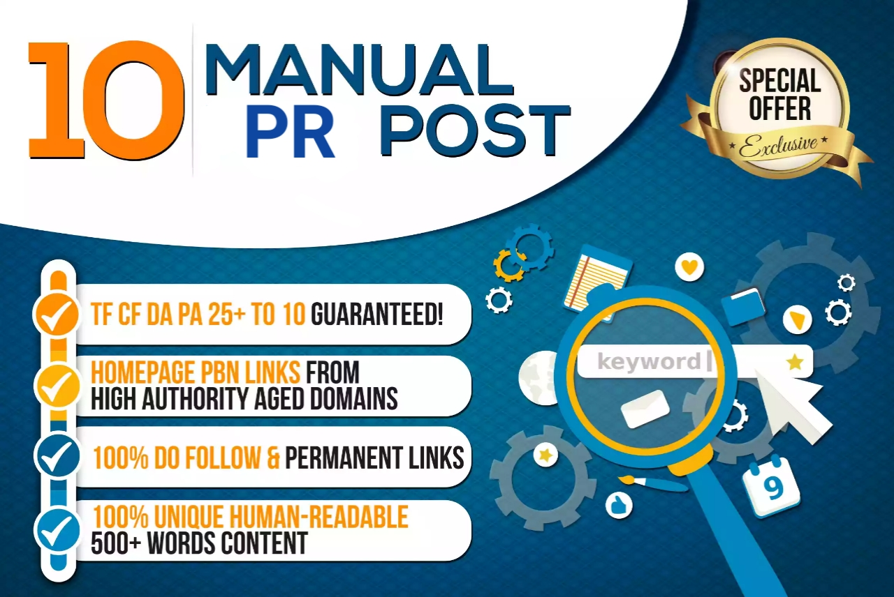 10 manual trustflow do follow PR backlinks for 5