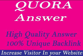 promote your website worldwide  with High Quality 22 Quora Answer with keyword and URL