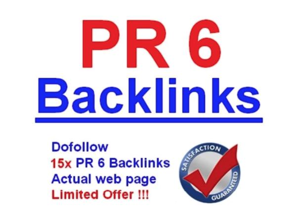 30 HIGH QUALITY PR6 DO FOLLOW SEO BACKLINKS TO IMPROVE RANKING