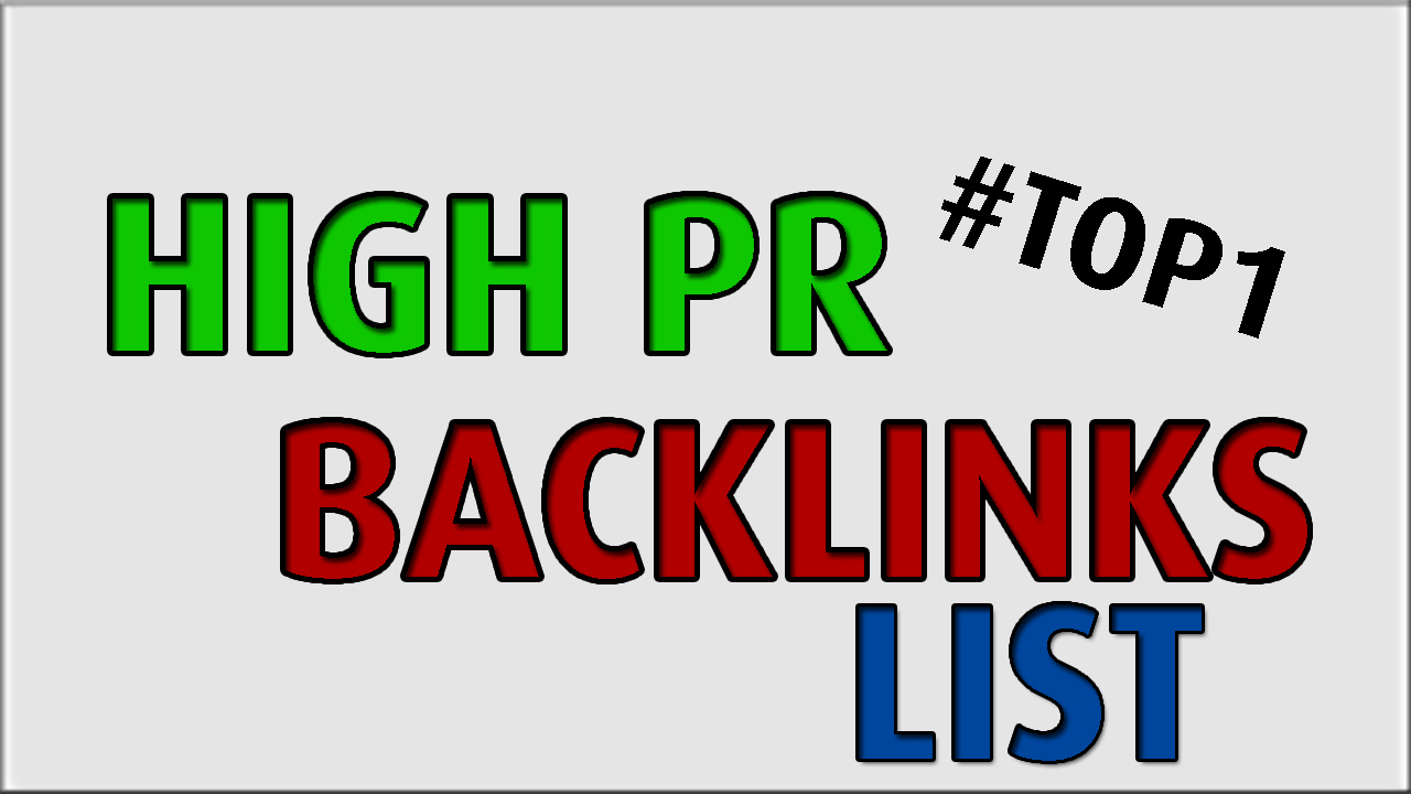 HIGH PR WEBSITE Profile LIST [160+ PLACE!]
