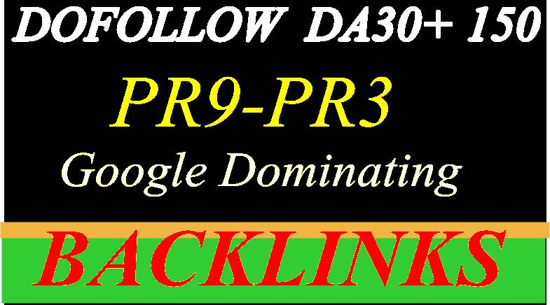 Build  High PR9 - PR3 DA 50 +150 High-Quality Domain  Authority  SEO  Backlinks
