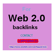 GET POWERFUL100 WEB 2.0 WITH HIGH AUTHORITY DO FOLLOW...