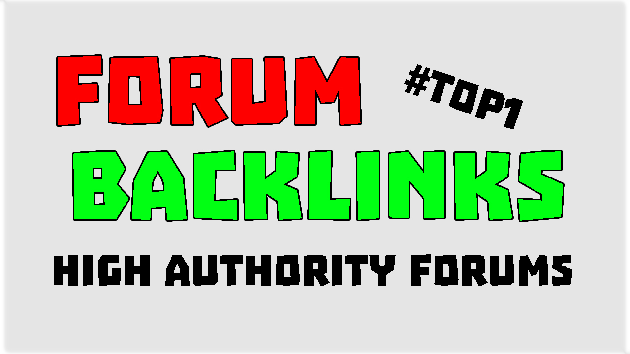 MANUAL Strong Forum Profile Backlinks - Authority Pages