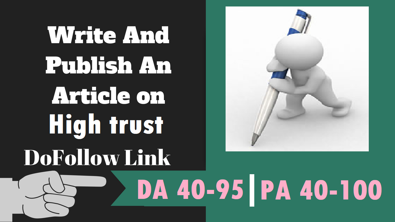 Write and Publish 15 Guest Post On 15 High Trust Flow Sites