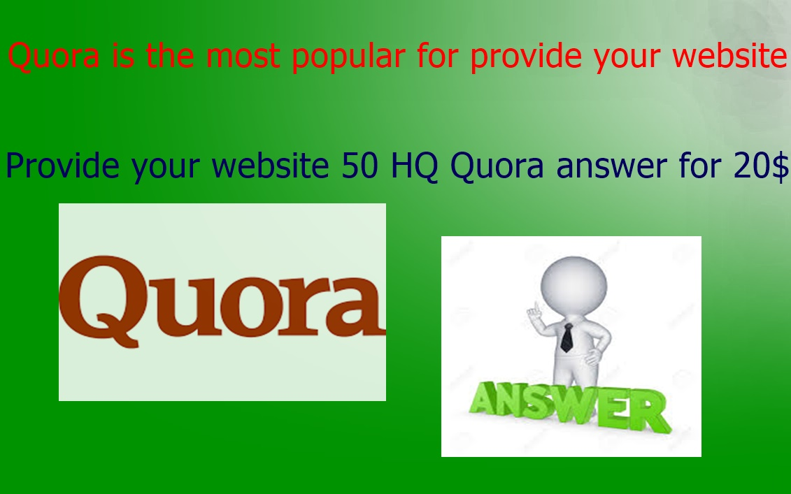 Provide your website with 10 HQ Quora Answer