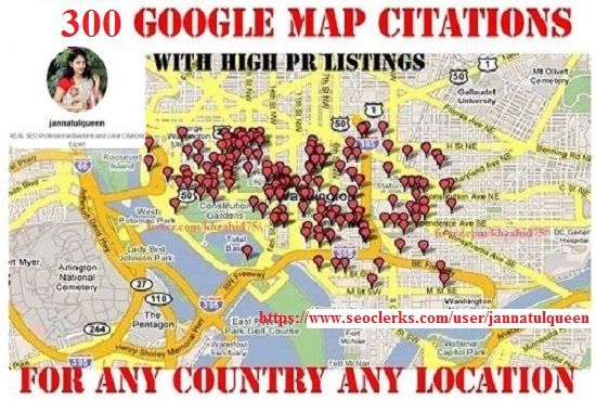 300 Google Map Citations With High DA PA Citation loc...