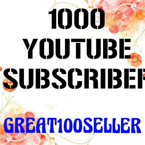 1000 YouTube Subscribers nondrop  guarantee fast delivery
