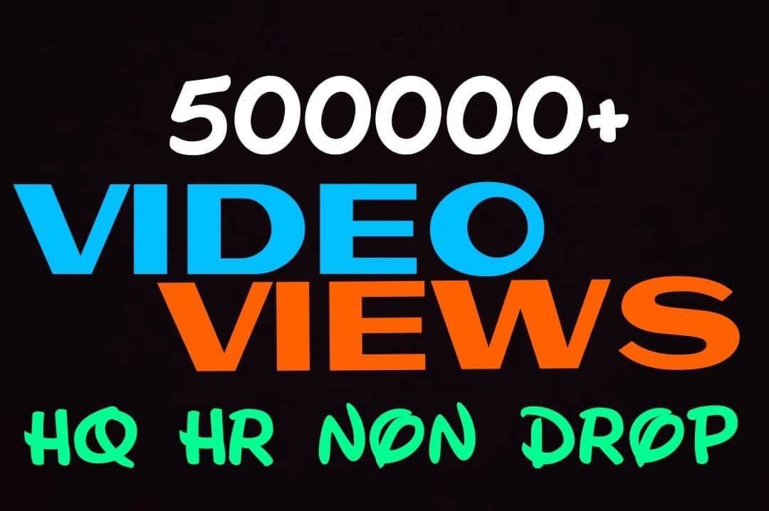 Provide 500000+ HQ, HR, Non Drop Video Promotion Instantly