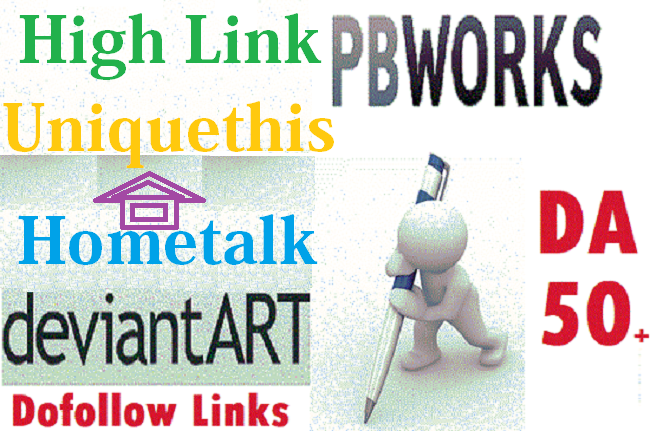Write and Publish Post On pbworks,  kiwibox,  thebaynet with High Backlink DA 50 Dofollow Sites