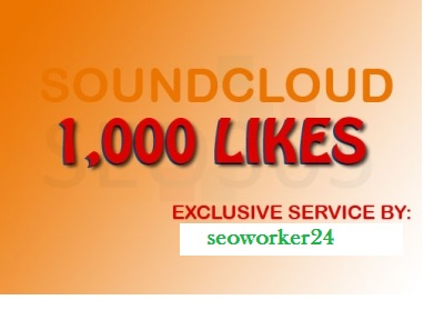 Instant will add 1000 REAL Sound Cd likes to your song OR Profile