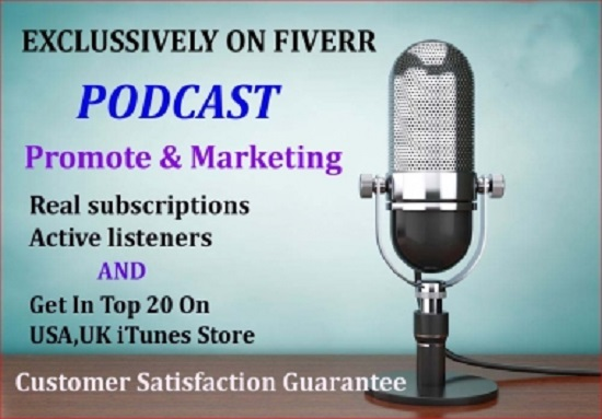 do your podcast promotion and marketing downloads in iTunes store