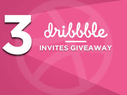3 Dribbble Invites selling