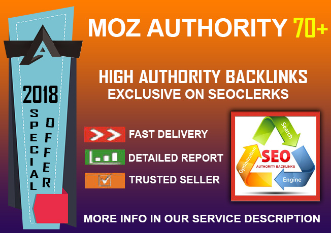 Special Offer: DA 70+ Authority Manual Backlinks