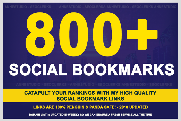 add 800+ SEO social bookmarks to your site, rss, ping