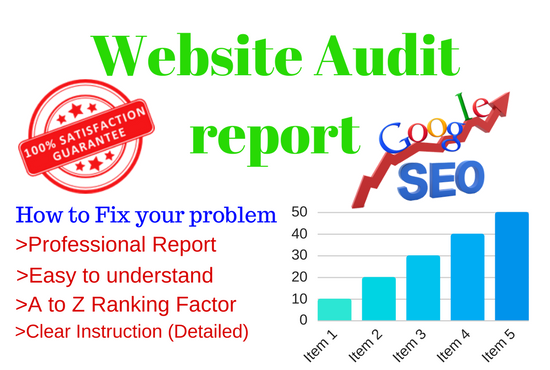 Do SEO friendly Website Audit and Provide a report wi...