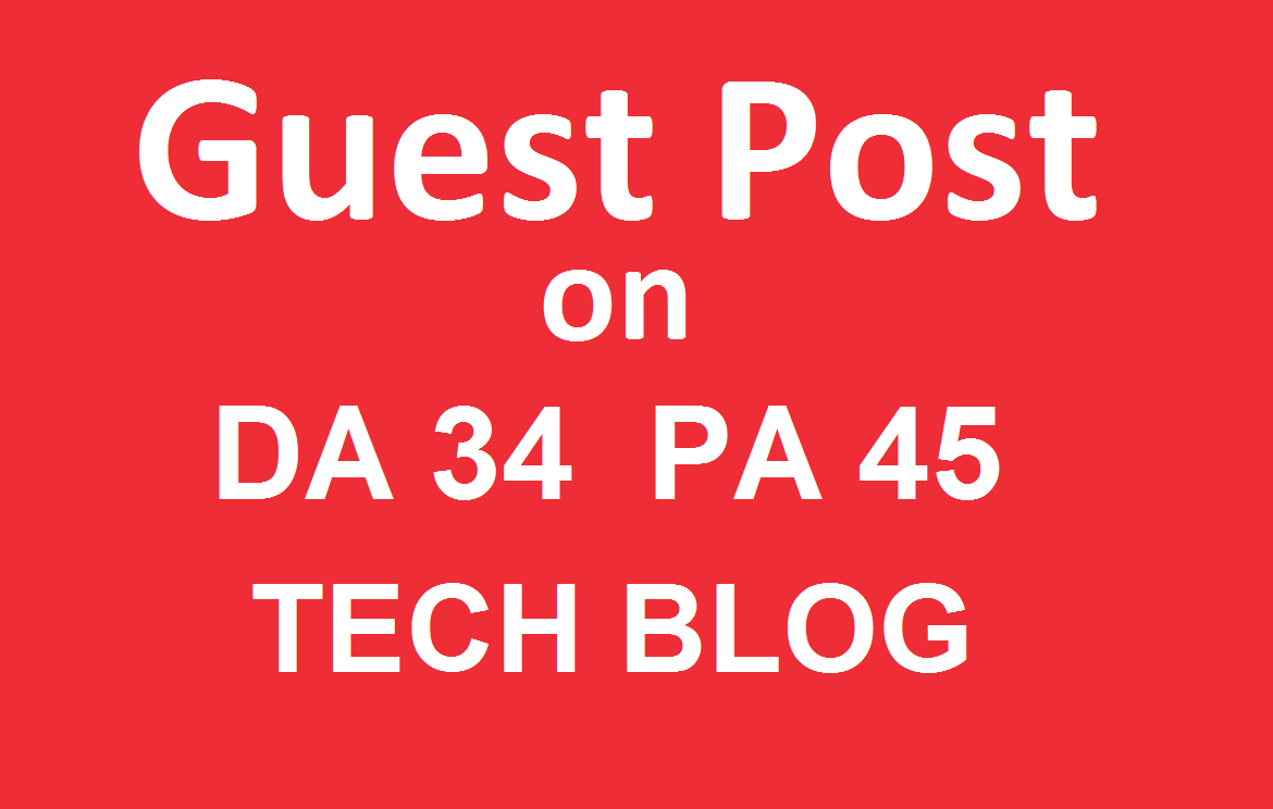 Publish a guest post on Techwebspace Technology Blog