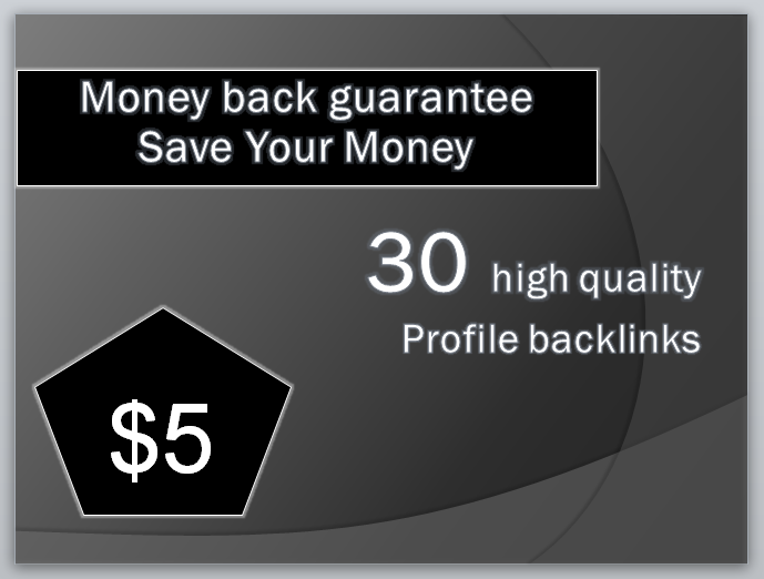 30 High Quality Profile Back-links