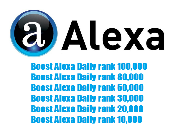 Boost Alexa Daily Rank 100,000 for you site