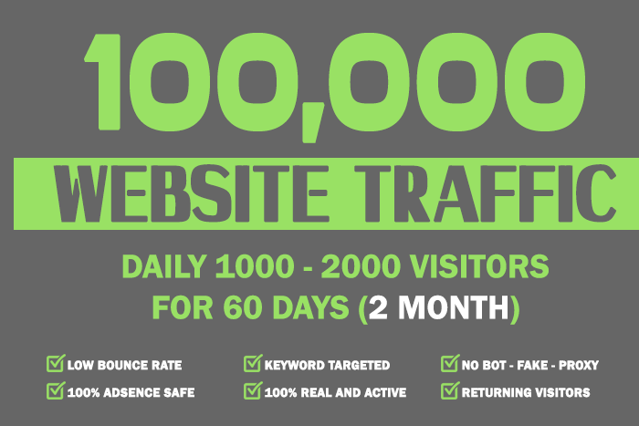 Drive 100,000 Real Website Keyword Targeted Low Bounc...
