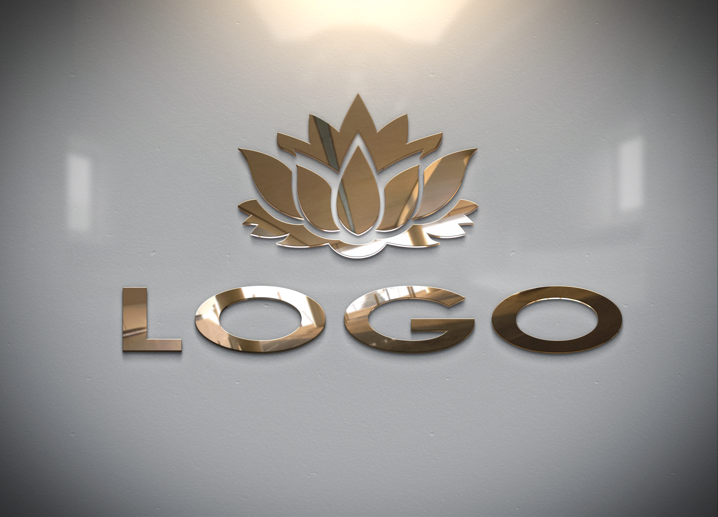 fast convert your logo into 3D MockUp design - sample no5