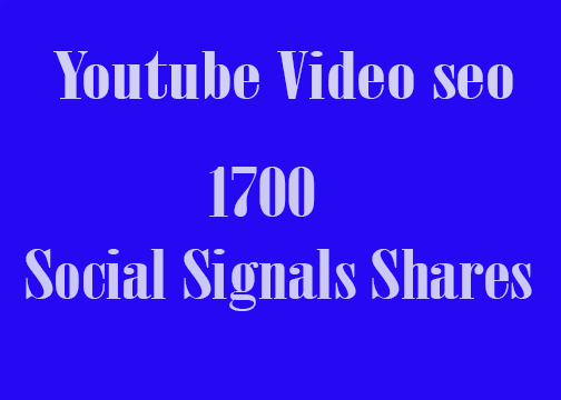 CPA Marketing Youtube Video Seo Best Package 1800 Social Signals