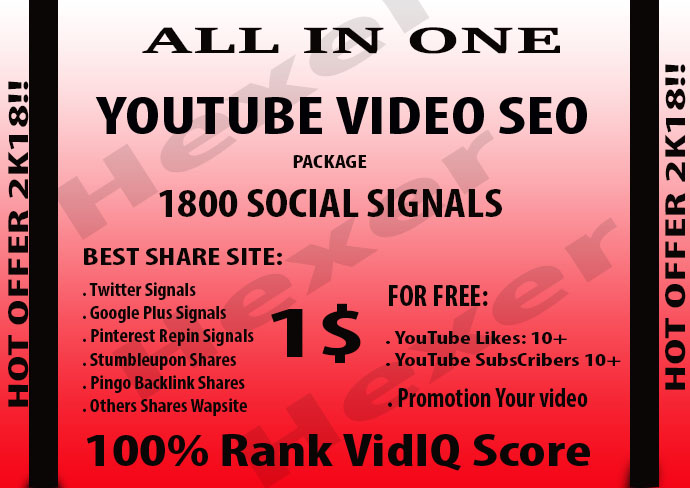 CPA Marketing Youtube Video Seo Best Package 2500 Social Signals