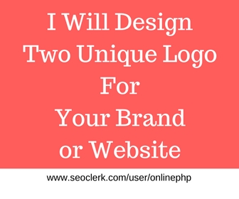 For just 5 dollar Get 2 Unique concept Design Logo for your Brand,Company Or Website with source file plus unlimited revision
