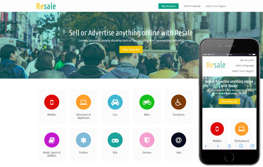 profitable ads classifieds website like OLX earn with premium ads