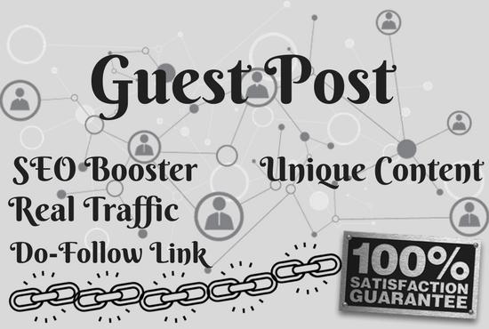 Write and publish 1 unique,  niche based guest post