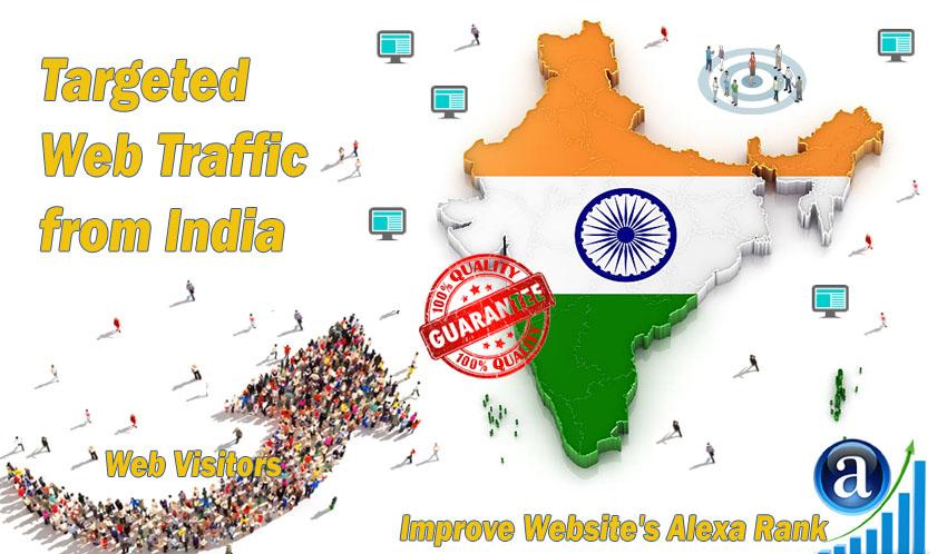 Send 20.000 India web visitors real targeted geo traffic