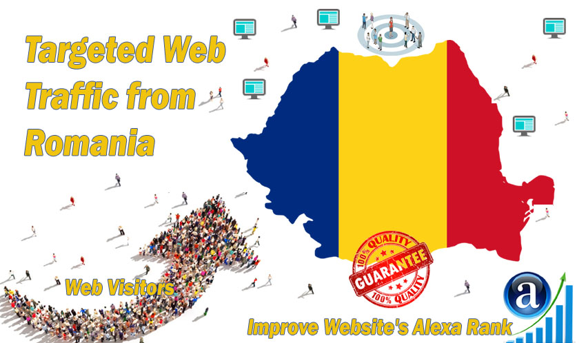 Send 25.000 Romania web visitors real targeted geo traffic